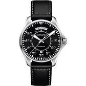 Hamilton 漢米爾頓 Khaki Aviation卡其飛行機械手錶-黑/42mm H64615735