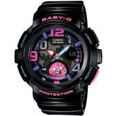 BABY-G 雙時區旅行度假風時尚錶-黑