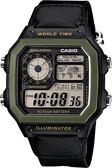 【台南 時代鐘錶 CASIO】卡西歐 台灣公司貨 AE-1200WHB-1B 世界地圖耐久電力多功能電子錶
