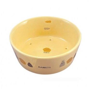 MARUKAN 陶瓷透氣圓形兔食碗 ES-13 x 1入