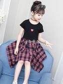 女童套裝 套裝洋氣韓版兒童短袖兩件套時髦套裝