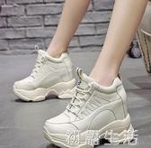 老爹鞋女夏季透氣厚底新款百搭網紅小白鞋超高跟鬆糕運動鞋秋 初語生活