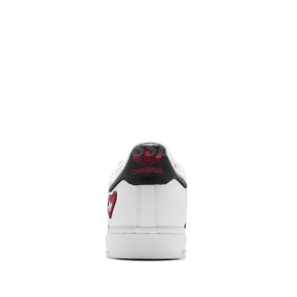 adidas 休閒鞋 Superstar 白 黑 紅 愛心 情人節 三葉草 愛迪達 男鞋 女鞋 情侶鞋【ACS】 FZ1807