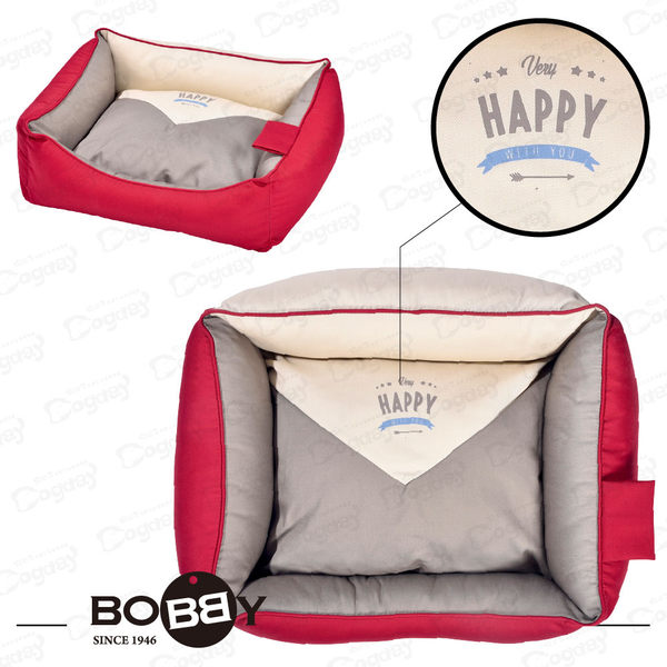 法國《BOBBY》信封方窩 S  全床可拆洗 方形設計 小狗床 睡窩 貴賓/馬爾濟斯
