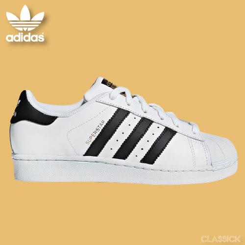 【折卷後2280】CLASSICK adidas Original Superstar 金標 男女鞋 金標 復古 休閒 透氣 白 黑 C77124