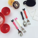 餐具 叉子 湯匙 TOOKI & CO【Z438042】可愛米奇米老鼠米妮兒童餐具/湯匙/叉子(兩件一組販售-小)-Current