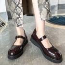 手工真皮女鞋34~39 2020新款時尚優雅小羅莉圓頭中跟瑪麗珍鞋 小皮鞋 ~2色