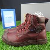 【iSport愛運動】Palladium WATERPROOF 皮革靴 PAMPA CUF 73231225 男女款 暗紅 防潑水