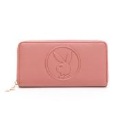 PLAYBOY- ㄇ拉長夾 BUNNY QUEEN系列-玫瑰粉色
