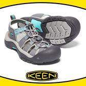【KEEN 美國 女 護趾涼鞋《灰/湖水綠》】1018834/快乾/防水/水陸兩用鞋/涼鞋/休閒涼鞋