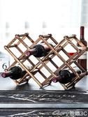 紅酒架擺件創意葡萄酒柜架實木展示架家用酒瓶架客廳酒架子裝飾品LX榮耀 新品
