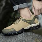男鞋真皮登山鞋秋季新款戶外運動鞋防水防滑耐磨休閑旅游鞋子