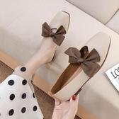 爆款熱銷軟底鞋女秋季新款蝴蝶結平底淺口軟皮單鞋軟底孕婦百搭仙女鞋聖誕節