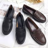 新款韓版女鞋英倫平底小皮鞋軟妹復古學生JK制服鞋學院風淺口單鞋 桃園百貨
