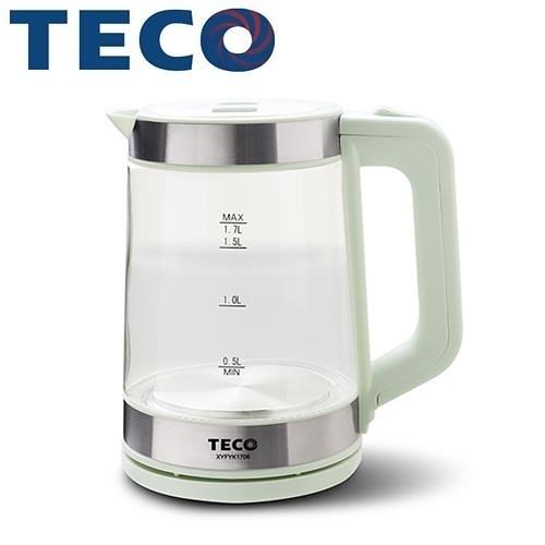 TECO 東元1.7L大容量玻璃快煮壺 XYFYK1706