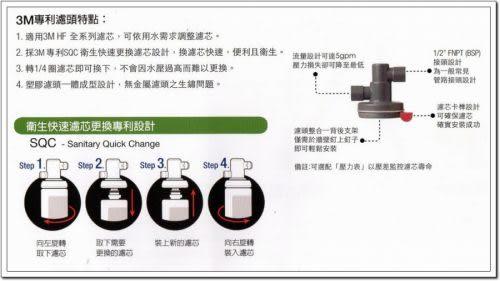 3M HF20高流量長效型商用生飲淨水器【0.5微米】【NSF 42/53 認證可生飲】【處理水量34069公升】