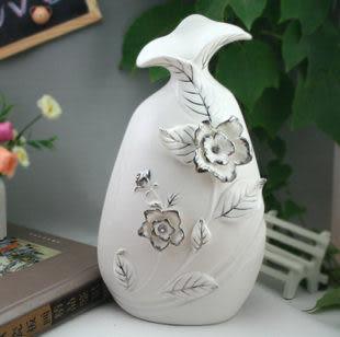 裝飾 家居工藝品櫥櫃 裝飾擺件 描銀鑲鑽 喇叭口花瓶