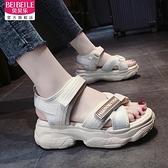 運動老爹涼鞋女2021新款夏季百搭仙女風松糕鞋子ins潮鞋厚底增高  「雙10特惠」