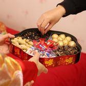 結婚用品創意糖果盒盤紅色喜盤分多格帶蓋