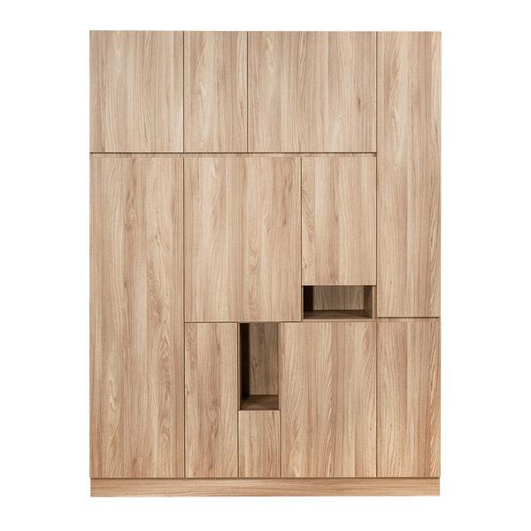 【Arkhouse】伯利恆系列-玄關多門高階右款高鞋櫃 W165*H218*D38