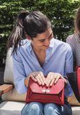 ■專櫃55折■全新真品■Bally Suzy 小款粒面山羊皮金鍊包 紅色