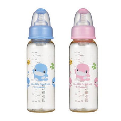【奇買親子購物網】酷咕鴨KU.KU. 新防脹氣PES標準瓶240ml-(藍/粉)