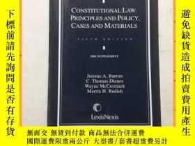二手書博民逛書店英文書罕見constitutional law principles and policy cases and m