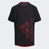 Adidas BADGE OF SPORT TEE 童裝 短袖 T恤 訓練 吸濕排汗 黑【運動世界】GP0751