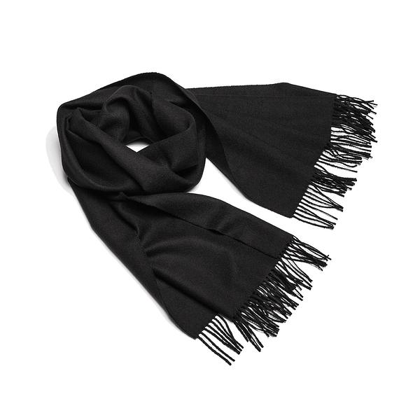 Alpaka Shawl Exclusive 100% 65x200cm 極致系列 素面單色 羊駝毛 披肩 / 圍巾 - 2019 秋冬仕樣(黑色雅痞)