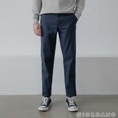 【GIORDANO】男裝彈力斜紋棉窄管卡其褲 - 07 花紗藍