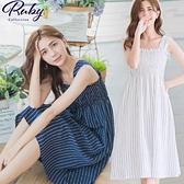 洋裝 RCha。粗肩帶條紋無袖洋裝-Ruby s 露比午茶
