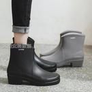 高跟雨鞋女日式雨鞋女士中筒防水防滑水鞋外穿膠鞋廚房水靴套鞋洗車高跟雨靴 快速出貨