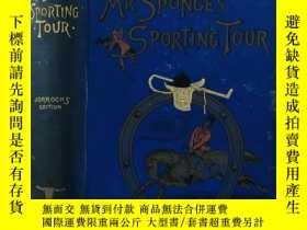 二手書博民逛書店1926罕見Mr. Sponge s Sporting Tour 插圖by JOHN LEECH 扉頁上色手工鋼板