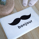 bonjour鬍子圖案地墊(短) 門墊 ...