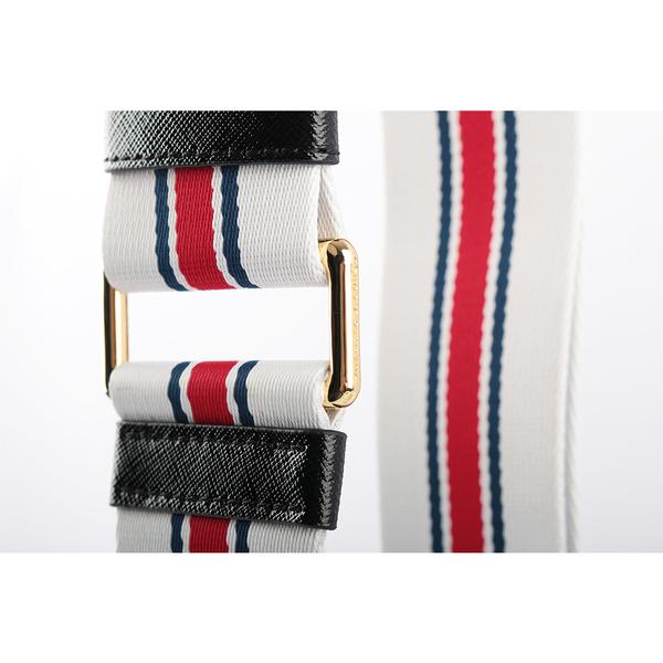 【MARC JACOBS】snapshot相機包背帶-條紋(白紅藍/金釦) M0015156 178