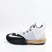 零碼出清~NIKE  AMBASSADOR IX 籃球鞋-黑/白/金 852413110