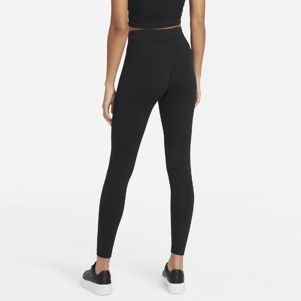 Nike 長褲 NSW Swoosh High-Rise Leggings 黑 白 女款 緊身褲 內搭褲 跑步 運動休閒 【ACS】 CZ8902-010