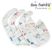 美國 tiny twinkle 圍兜三入/口水巾/領巾(鯨魚/雲朵/獨角獸)