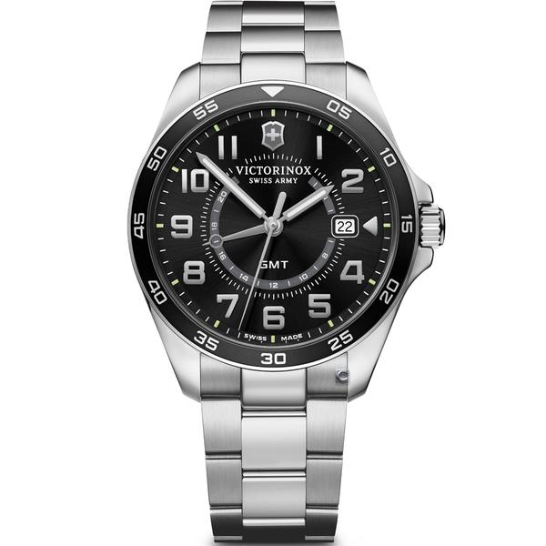 Victorinox 瑞士維氏 FieldForce系列 異地穿梭者 兩地時間腕錶 VISA-241930