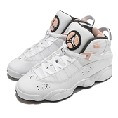 Nike 籃球鞋 Jordan 6 Rings GS 白 粉紅 潑墨 喬丹 女鞋 大童鞋【ACS】 323419-180