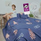《M003》M吸濕排汗專利技術6x6.2尺雙人加大床包+枕套三件組-台灣製(不含被套)潔淨乾爽