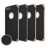 水漾 iPhone 7/8 (4.7吋) 碳纖維紋電鍍雙層手機軟殼