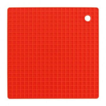 LOVEL 格紋矽膠多用途隔熱墊(橘)