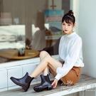 英倫風切爾西雨鞋女士時尚款外穿防水鞋雨靴短筒套鞋防滑水靴膠鞋 小時光生活館