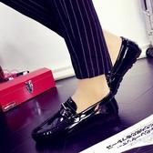 YOYO 懶人鞋 豆豆鞋 男鞋子 亮面 休閒鞋 皮鞋