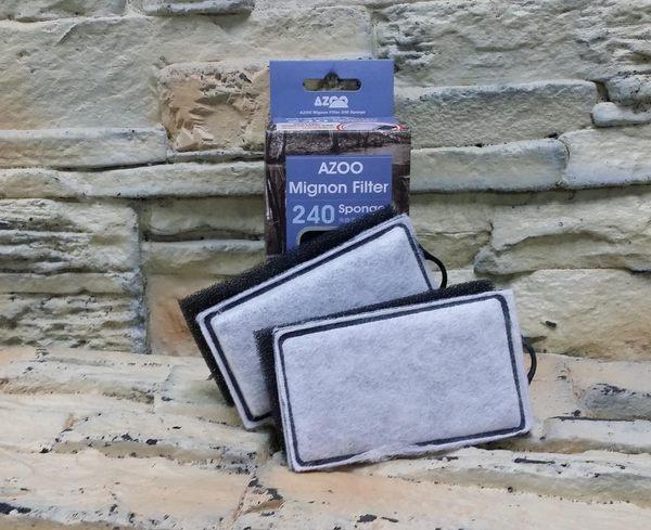 【西高地水族坊】AZOO 愛族外掛過濾器濾材替換棉、生化棉濾板(240型)