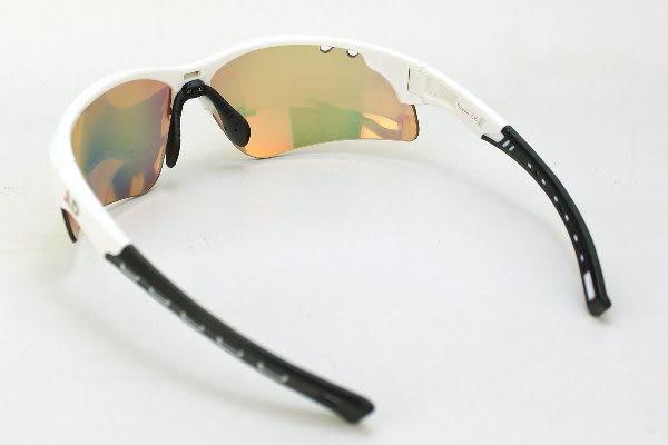 AD科技多層膜彩銥變色鏡片亮色系運動眼鏡~白天到夜晚一付搞定~全方位保護眼睛-型號:Bravo CH(W/R)