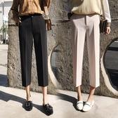 七分褲 春夏款西裝褲矮小個子女生150cm加小XS碼學生高腰七分闊腿褲