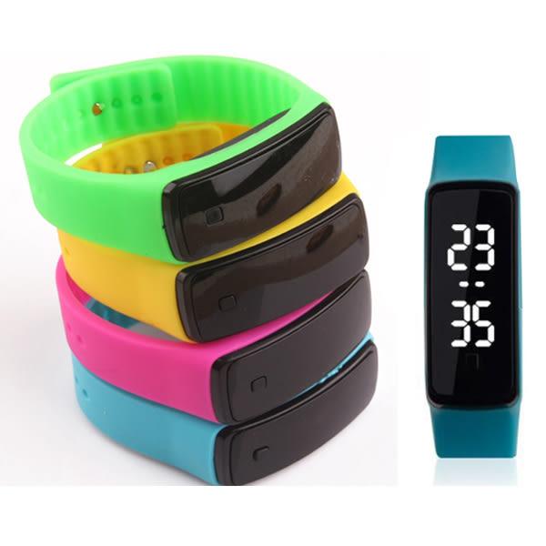 *Watch-123 手錶趣*【34329-030】您好色彩-二代白光按鍵LED智通手環腕錶 (8色可選)