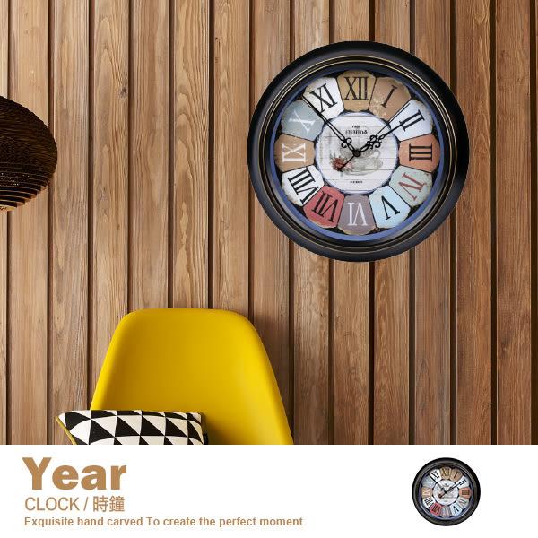 鐘 時鐘 掛鐘 客廳 簡約裝飾 復刻 仿舊 臥室 靜音藝術掛鐘【C27】品歐家具